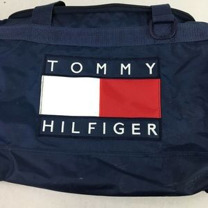 Tommy Hilfiger Embroidered  Spell Out Navy Duffle